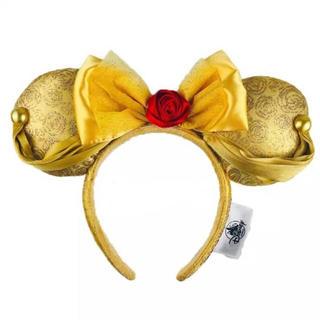 ディズニー(Disney)の海外ディズニー 限定❣️美女と野獣ベルイエローローズリボンカチューシャ(カチューシャ)