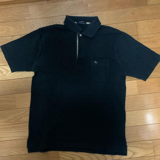 バーバリー(BURBERRY)のバーバリー ポロシャツ 黒(ポロシャツ)