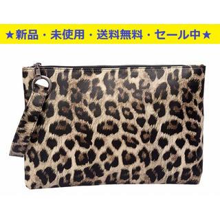 即購入OK♬新品♬今注目のクラッチバッグ(ヒョウ柄)(^^♪(クラッチバッグ)