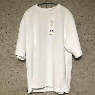 UNIQLO - エアリズムコットンオーバーサイズTシャツ ユニクロユー ホワイト