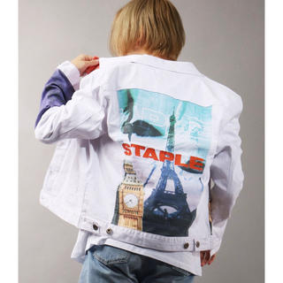 ステイプル(staple)の【STAPLE】オリジナルロゴ刺繍 デニムジャケット Gジャン(Gジャン/デニムジャケット)