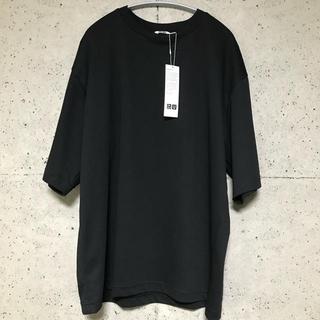 UNIQLO - エアリズムコットンオーバーサイズTシャツ ユニクロユー ブラック