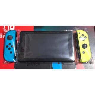 ニンテンドースイッチ(Nintendo Switch)の【未使用に近い】Nintendo 任天堂 switch 新型 本体 ジョイコン(家庭用ゲーム機本体)