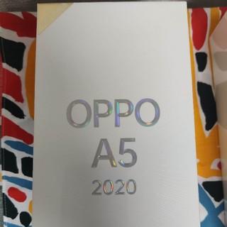 アンドロイド(ANDROID)のOPPO A5 2020 blue 未使用未開封品楽天モバイル対応 simフリ(スマートフォン本体)