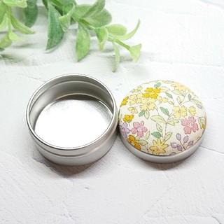 (321)花柄 マカロン缶(雑貨)