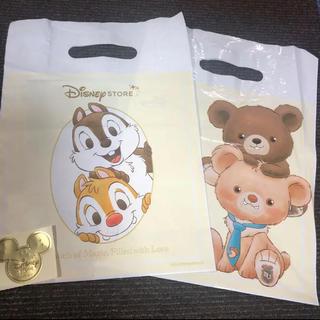 ディズニー(Disney)のディズニーストア ショップ袋 2枚セット 小サイズ ギフトシール1枚(ショップ袋)