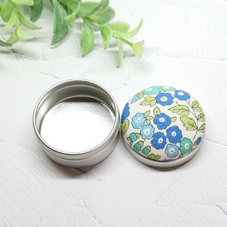 (324)花柄 マカロン缶(雑貨)