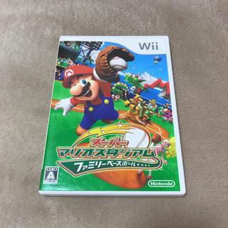 ウィー(Wii)のスーパーマリオスタジアム ファミリーベースボール マリオ ベースボール wii(家庭用ゲームソフト)