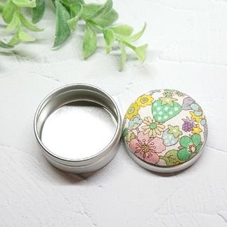 (325)いちご柄 マカロン缶(雑貨)