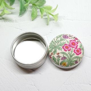 (326)花柄 マカロン缶(雑貨)