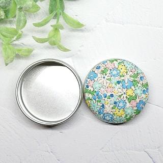 (379)花柄 マカロン缶(雑貨)