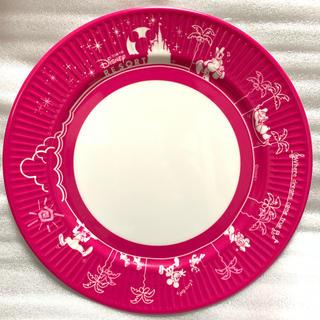 ディズニー(Disney)のラクマ最安値!ディズニーリゾート【紙皿風 メラミンプレート ピンク】(食器)