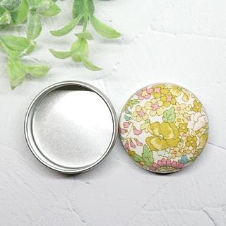 (380)花柄 マカロン缶(雑貨)