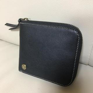 モノコムサ   ファスナー財布 本革製 新品未使用(折り財布)