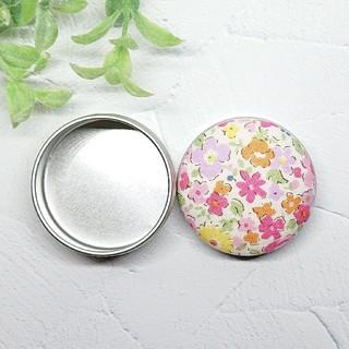 (381)花柄 マカロン缶(雑貨)