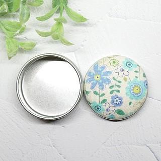 (382)花柄 マカロン缶(雑貨)