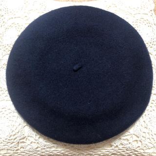 ウィゴー(WEGO)のベレー帽 紺(ハンチング/ベレー帽)