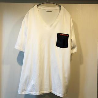 プラダ(PRADA)の【底値】PRADA   プラダ Vネック Tシャツ(Tシャツ/カットソー(半袖/袖なし))