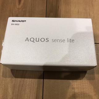 アクオス(AQUOS)のAQUOS sense lite SH-M05 ピンク  新品 (スマートフォン本体)