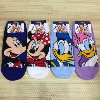 ディズニー(Disney)のディズニー 靴下 4足 セット ミッキー ドナルド(ソックス)