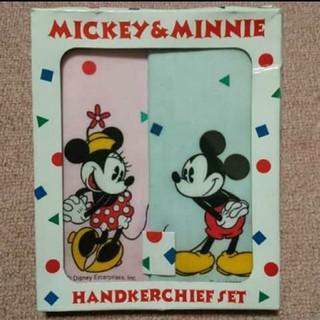 ディズニー(Disney)のDisney ミッキーミニー ハンカチセット(ハンカチ)