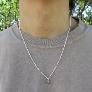 スタッズネックレス シルバー メンズ ネックレス アクセサリー 50cm(ネックレス)