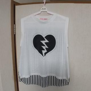 ヘザー(heather)のHeather ヘザー ノースリーブ 白(Tシャツ(半袖/袖なし))