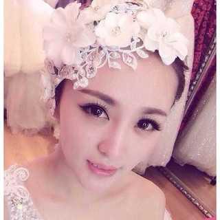 ウェディング フラワーヘッドドレス 髪飾り ヘアアクセサリー お花モチーフ(その他)
