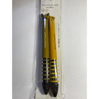 【新品】韓国ダイソーボールペン たぬき2本 7(ペン/マーカー)