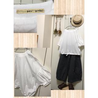 プープレ(peu pres)のpeu pres♡ダボッと可愛い♪プルオーバー/日本製(シャツ/ブラウス(半袖/袖なし))