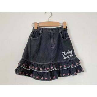 シャーリーテンプル(Shirley Temple)のシャーリーテンプル ティアードスカート 黒系120(スカート)