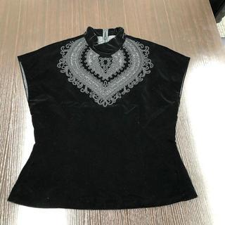 クリスチャンディオール(Christian Dior)の❤決算セール❤ディオール ノースリーブ トップス レディース ブラック Lサイズ(カットソー(半袖/袖なし))