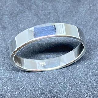 平打ち 細め シルバー925 リング  プレーン ビッグ 大きいサイズ 銀 指輪(リング(指輪))