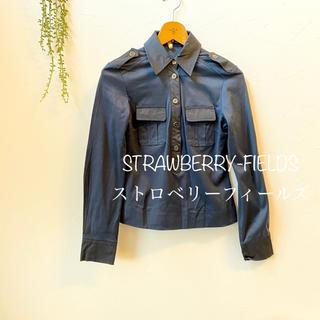 STRAWBERRY-FIELDS - STRAWBERRY-FIELDS ストロベリーフィールズ*ポロシャツ異素材
