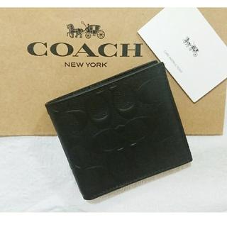 コーチ(COACH)の値下げ交渉○様 専用です❗コーチ折り財布  ブラック(折り財布)