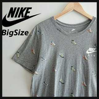 ナイキ(NIKE)の974【レア】 NIKE スニーカー総柄Tシャツ XL ビッグサイズ(Tシャツ/カットソー(半袖/袖なし))