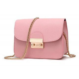【新品】クラッチバッグ ミニポシェット フォーマル チェーン付 ピンク(クラッチバッグ)