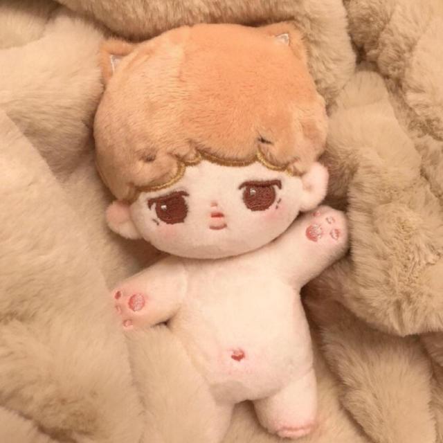 【最終お値下げ】BTS ぬいぐるみ jimin ジミン 15cm エンタメ/ホビーのおもちゃ/ぬいぐるみ(ぬいぐるみ)の商品写真