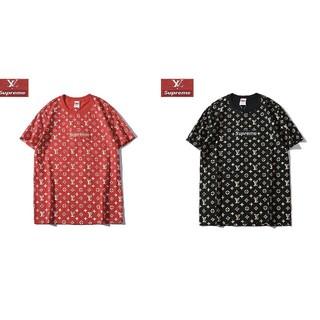 LOUIS VUITTON - [2枚8000円送料込み] LV 赤 黒Tシャツ 半袖