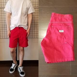 ハリウッドランチマーケット(HOLLYWOOD RANCH MARKET)の日本製 H.R.MARKET ロゴ刺繍入り Painter shorts(ショートパンツ)