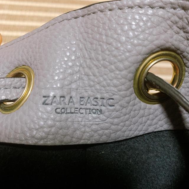 ZARA(ザラ)のZARA巾着ショルダーバッグ★グレー レディースのバッグ(ショルダーバッグ)の商品写真