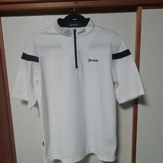 スリクソン(Srixon)のスリクソンゴルフ半袖シャツ L  ホワイト(ウエア)