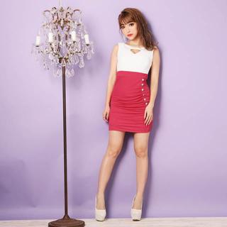 デイジーストア(dazzy store)のキャバ嬢ドレス ホワイト&ピンク(ミニドレス)