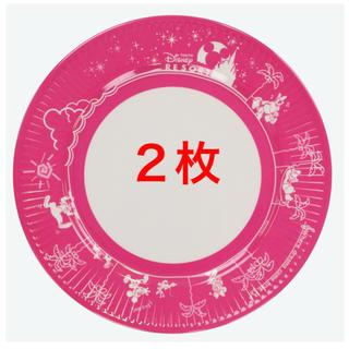 ディズニー(Disney)の《新品/未使用/新商品》ピンク フードパーク柄 プレート ディズニー *匿名配送(キャラクターグッズ)