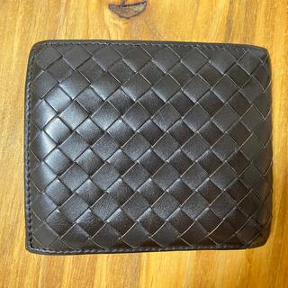ボッテガヴェネタ(Bottega Veneta)の【正規品】BOTTEGA VENETA 二つ折り財布 ダークブラウン(折り財布)
