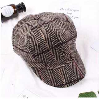 カーキー ツイード キャスケット M 帽子 ハット ハンチング コーデュロイ(ハンチング/ベレー帽)