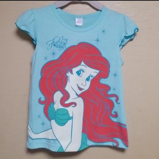 ディズニー(Disney)の【新品】130 アリエル肩フリル ノースリーブシャツ(Tシャツ/カットソー)
