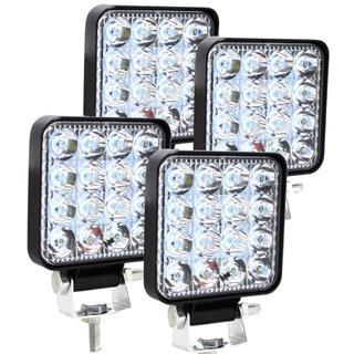 作業灯 ワークライト 投光器 12V-24V 4個セット(汎用パーツ)