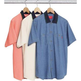 Supreme - 17ss 美品 青 M  supreme denim rib s/s shirt