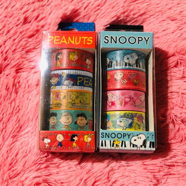 SNOOPY(スヌーピー)のスヌーピー ☆マスキングテープ☆8個セット エンタメ/ホビーのおもちゃ/ぬいぐるみ(キャラクターグッズ)の商品写真